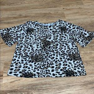 Susan Graver Animal Print Top Size XLarge